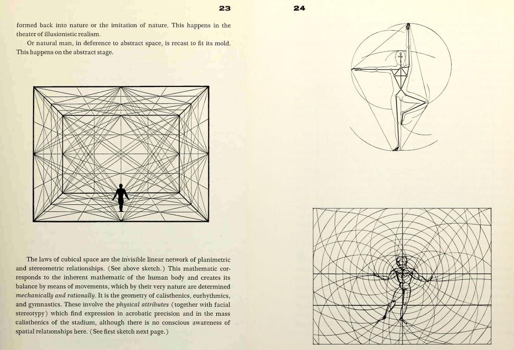 The drawings of Oskar Schlemmer make me think of